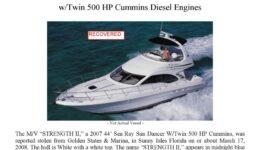 5963-08 Stolen Boat Notice