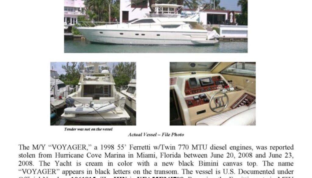 5998-08 Stolen Boat Notice