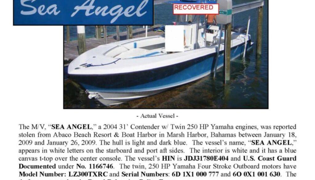 6065-09 Stolen Boat Notice - 31' Contender