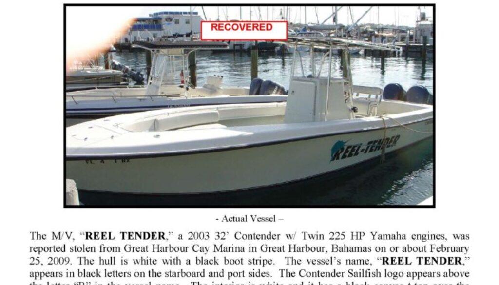 6072-09 Stolen Boat Notice - 32' Contender