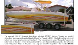 6107-09 Stolen Boat Notice - 32' Renegade