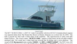 6111-09 Stolen Boat Notice - 41' Luhrs