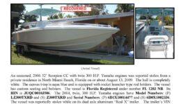 6116-09 Stolen Boat Notice - 32' Scorpion