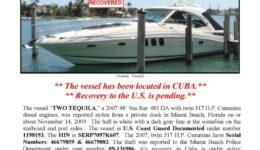 6141-09 Stolen Boat Notice - 48' Sea Ray