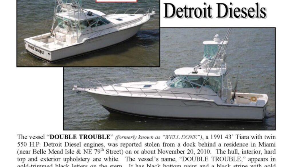 6219-10 Stolen Boat Notice - 43' Tiara