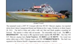 6284-11 Stolen Boat Notice - 30' Concept