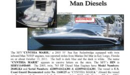 6292-11 Stolen Boat Notice - 55' Sea Ray
