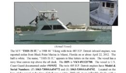 6333-12 Stolen Boat Notice - 46' Viking