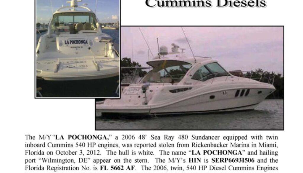 6364-12 Stolen Boat Notice - 48' Sea Ray