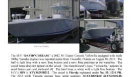 6424-13 Stolen Boat Notice - 36' Yellowfin