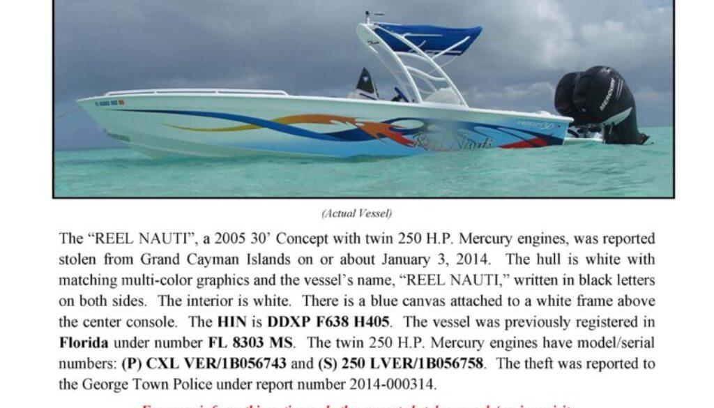 6453-14 Stolen Boat Notice - 30' Concept