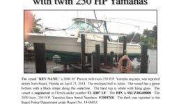 6485-14 Stolen Boat Notice - 30' Pursuit