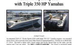6504-14 Stolen Boat Notice - 41' Hydra Sport
