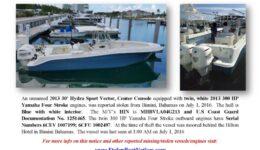6696-16 Stolen Boat Notice - 30 Hydra Sport