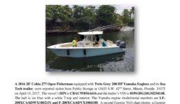 6778-16 Stolen Boat Notice - 2016 27 Cobia (2)