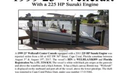 6841-17 Stolen Boat Notice -1999 23 Wellcraft