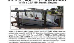 6841-17 Stolen Boat Notice -1999 23 Wellcraft