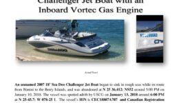 6916-18 Missing Boat Notice - 2007 18 Sea Doo Challenger