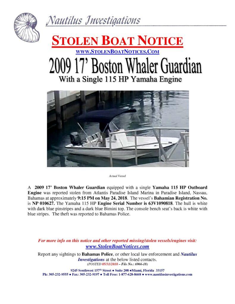 Stolen Boat Notices – Stolen Boat Notices