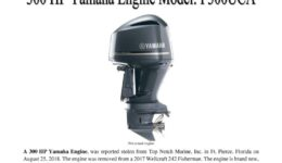 7035-18 Stolen Motor Notice - 300 HP Yamaha engine